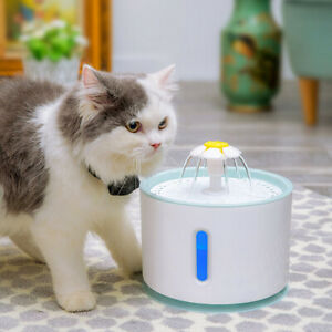 Pet Dog Cat Water Fountain Electric Automatic Water Feeder Dispenser Container