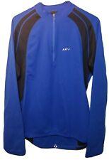Louis Garneau Mens XL Blue/Black Cycling Jersey Bicycle Shirt Biking