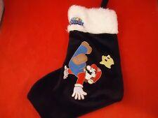 Super Mario Galaxy Nintendo Wii Black &White Christmas Holiday Stocking Gamestop