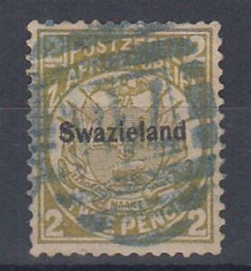 SWAZILAND 1889 2d. OLIVE-BISTRE FU (ID:877/D50704)