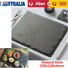 4x Natural Slate Tray Rectangular Sushi Plate Slate Dish Pizza Stone Steak Plate