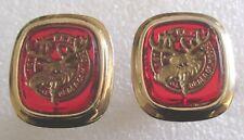 Vintage Loyal Order of Moose LOOM Lodge Cufflinks Cuff Links Men's Jewelry NICE