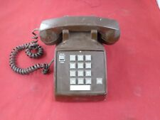 Vintage Radio Shack 43-366A Brown Desk Coil Cord Telephone, Used
