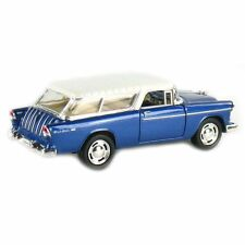 "Kinsmart 5"" 1955 Chevy Nomad 1:40 Diecast Model Toy Car Chevrolet- Blue"