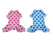 Heart Fleece PJ's for Dog - soft Cozy fleece Pajamas Warm & Stylish XS - M