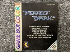 MANUAL ONLY Perfect Dark - Game Boy Color GBC Instructions