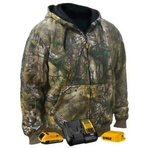 Dewalt-DCHJ074D1-XL Unisex Realtree XTRA Camouflage Heated Hoodie Kit - XL