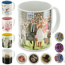 Design Your Own Personalised Mug - Customise with Photo/Collage-Choice of Colour
