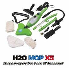 H2O MOP X5 SCOPA A VAPORE VAPORETTO IGIENIZZANTE STERILIZZATORE LAVAPAVIMENTI