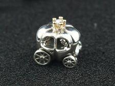 Pandora Two Tone Princess Carriage Charm w/ Genuine Pearl