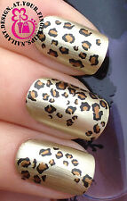 NAIL ART WRAP WATER STICKER DECALS TRANSFERS LEOPARD SPOTS ANIMAL PRINT #461