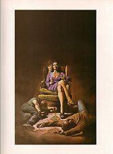 """1978 Full Color Plate """"Hatchett"""" by Boris Vallejo Fantastic GGA"""