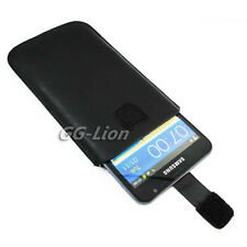 black Leather Case Skin Cover Pouch Sleeve for Samsung Galaxy Note LTE,SGH-i717