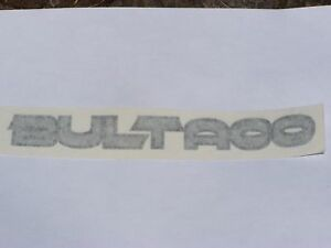 Bultaco Tank Decal Silver and Black