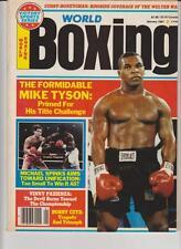 WORLD BOXING MAGAZINE MIKE TYSON-MICHAEL SPINKS BOXING HOFers JANUARY 1987
