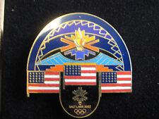 2002 Salt Lake City Olympic Torch Southwestern American Flag Pin