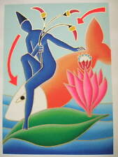 Giancarlo Montuschi serigrafia polimaterica .50x70