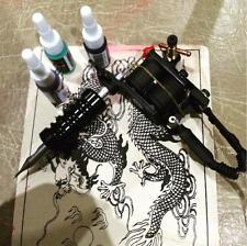 Dragonhawk Tattoo kits 8 wrap coils guns machine 1/6oz black tattoo ink sets