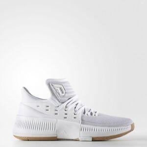 adidas Dame Lillard 3 Legacy Sizes 7.5-9 White RRP £100 BNIB BW0323