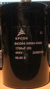 Epcos/TDK B43564-X0004-M488 Elko 1700 uF 450V    NOS