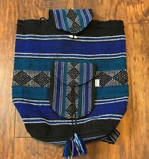 Lillo Backpack Hippie Style Boho Blue White Black Aztec Native Carry On