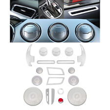 25pcs Aluminum Interior Parts Decoration Trim Covers For Ford Mustang 2015-2018