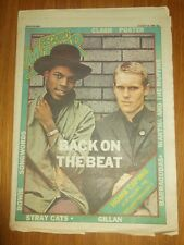 RECORD MIRROR AUGUST 30 1980 CLASH POSTER BARRACUDAS BEAT DAVID BOWIE STRAY CATS