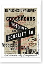 Black History Month Crossroads Of Freedom And Equality DOD Poster