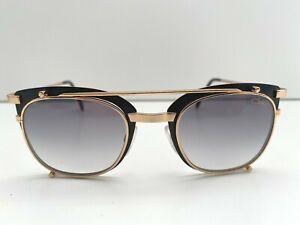 CAZAL 9077 SUNGLASSES  001 SHINY BLACK/GOLD GRADIENT GREY LENSES