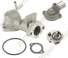 Coolant Thermostat + Housing + Cover + Gasket 5PC Kit fits 1990-1993 Mazda Miata