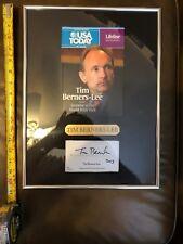 Signed Tim Berners-Lee Inventor Of The Worldwide Web Jsa