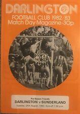 More details for darlington v sunderland pre season friendly 1982/83