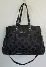 Coach Ashley Dotted Op Art Carryall NWOT F20049 Black and Silver Crossbody Hand