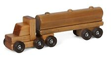 OIL TANKER WOOD TOY Tractor Trailer Truck HEIRLOOM QUALITY Homeschool Waldorf