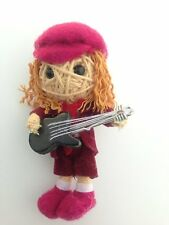 Angus Young AC/DC Guitar Music Lucky Voodoo String Doll Keychain Keyring USA