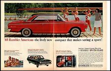 1965 Rambler Rowing Team Red Large Vintage Print Ad