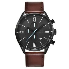 Infinity CS 04 Black + brown Men's Casual Chronograph Watch Brown Leather Strap