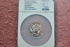2016, Canada, $200, Canada's Vast Prairies 2 oz silver coin, PF69, First Release