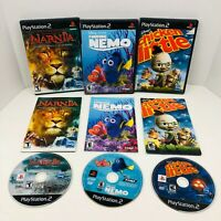 Finding Nemo Chronicles Of Narnia Chicken Little Sony PS2 Lot Disney Kids Lot