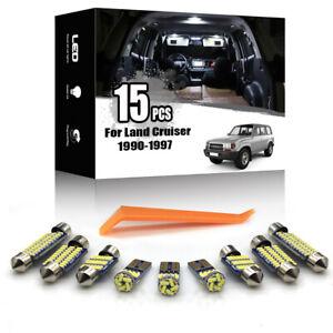 15x For Toyota Land Cruiser 80 1990-1997 Car Interior LED Lighting Kit Canbus
