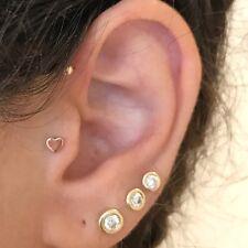 Tragus, Ear Piercings, Septum, Helix 14k solid gold Labret- Reverse screw