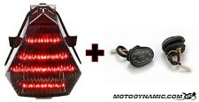 08-16 YAMAHA R6 Sequential LED Tail Light SMOKE + Flush Mount Turn Signals Combo