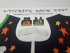 Witching Hour Halloween Vest Fabric Panel Spring Industries Pumpkins Ghosts New