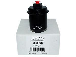 AEM 25-200BK High Volume Fuel Filter for Honda/Acura