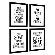 Excello Global Products Wooden Bathroom Humor Signs : Decor for Home,