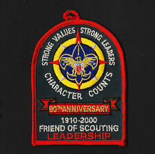 "1910-2000 90th Anniversary Friend of Scouting Leadership 4"" Dangler"