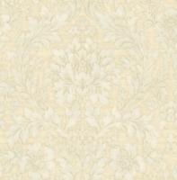 Victorian Floral Damask Wallpaper Subtle Blue Cream Gray Double Roll Wallpaper