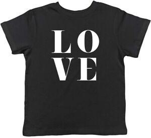 LOVE Childrens Kids T-Shirt Boys Girls