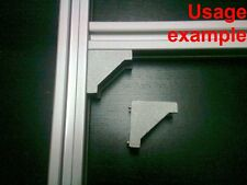 Aluminum T-slot profile 90 deg corner bracket 20x20-6mm, 8-set