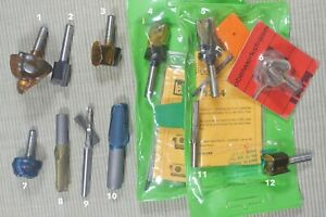 """Leitz router bits Lot! Most with 1/4"""" Shank. Whiteside quality. New, old stock"""